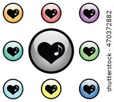 music note heart icon glass...   Shutterstock .eps vector #470372882