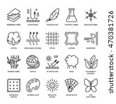 vector line icons of fabric... | Shutterstock .eps vector #470381726