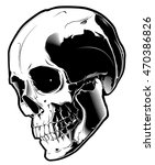 the image of the skull. vector... | Shutterstock .eps vector #470386826
