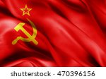 ussr flag of silk with... | Shutterstock . vector #470396156