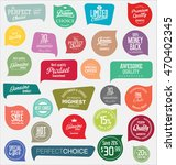 modern badges and labels... | Shutterstock .eps vector #470402345