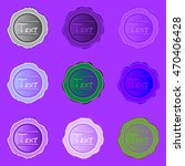 set of nine colorful stamp for... | Shutterstock .eps vector #470406428