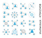 people connection icons and... | Shutterstock .eps vector #470415458