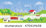 flat design urban landscape... | Shutterstock .eps vector #470419658