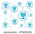 network servers  | Shutterstock .eps vector #470420348