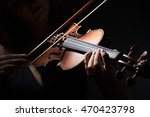 Violinist Holding In Your Hands ...