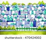 cute clean town love... | Shutterstock . vector #470424002