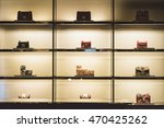 woman handbag in a showcase of... | Shutterstock . vector #470425262