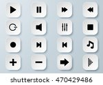 arrow vector 3d button icon set ... | Shutterstock .eps vector #470429486