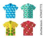 aloha hawaiian shirt for happy...   Shutterstock .eps vector #470437772