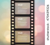 film strip design with your... | Shutterstock .eps vector #470439326
