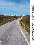 Small photo of Route E69 between Alta and Honningsvag in Finnmark, Northern Norway