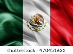 mexico flag of silk with... | Shutterstock . vector #470451632