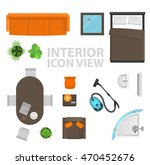 set top view for interior icon... | Shutterstock . vector #470452676