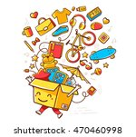 vector colorful illustration of ... | Shutterstock .eps vector #470460998