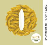 rice grains. vector... | Shutterstock .eps vector #470471282