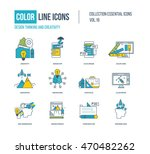 color line icons collection....