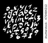 alphabet letters.white... | Shutterstock . vector #470484212