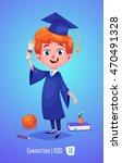 cute boy. back to school... | Shutterstock .eps vector #470491328