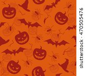 halloween seamless texture with ... | Shutterstock .eps vector #470505476