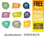 free shipping logo badge and... | Shutterstock .eps vector #470519675