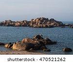 rocky shore in galicia | Shutterstock . vector #470521262