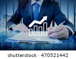 business progress report graph... | Shutterstock . vector #470521442