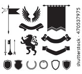heraldic silhouettes for signs... | Shutterstock .eps vector #470537975