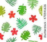 tropical background with... | Shutterstock . vector #470541626