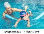 swimming class   little girl... | Shutterstock . vector #470543495