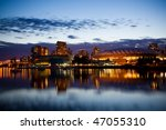 Vancouver BC evening skyline, Canada - stock photo