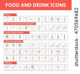 set of vector line icons of... | Shutterstock .eps vector #470569682