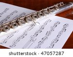 Silver Open Key Flute And...