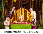 cheerful indian  family... | Shutterstock . vector #470578922