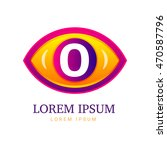 abstract eco logo with eye icon.... | Shutterstock .eps vector #470587796