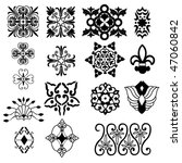 decorative designs and icons | Shutterstock .eps vector #47060842