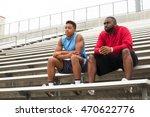 coach spending time mentoring a ... | Shutterstock . vector #470622776