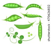 collection of fresh green peas... | Shutterstock .eps vector #470626832