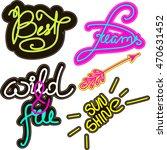 sticker pin trendy label patch... | Shutterstock .eps vector #470631452