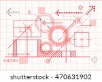 technical drawing   abstract  ...   Shutterstock . vector #470631902