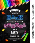 Back To School Party Poster...