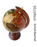 Globe from the top - stock photo