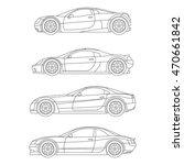 car sport super muscle outline... | Shutterstock .eps vector #470661842