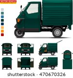 delivery tricycle.  doors can...   Shutterstock .eps vector #470670326