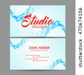 creative vector business card... | Shutterstock .eps vector #470674106