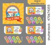 advertising back to school... | Shutterstock .eps vector #470674355