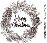 merry christmas elements and... | Shutterstock .eps vector #470674976