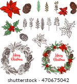 merry christmas elements and... | Shutterstock .eps vector #470675042
