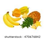 vector illustration of exotic... | Shutterstock .eps vector #470676842