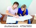 happy family making repairs at... | Shutterstock . vector #47067850
